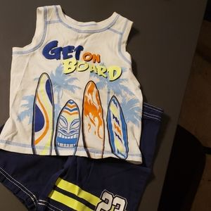 Boys tank and board short set. 3t/4t